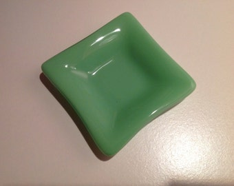 Mint Green Fused Glass Mini Dish