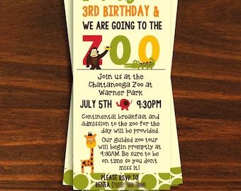 Zoo Birthday Party Invitation