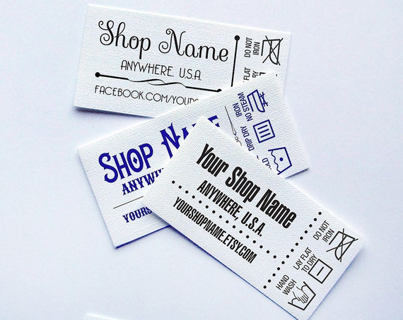 labels for handmade items custom fabric labels laundry care added 48 labels 2 25 x 2927