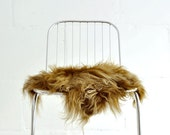 Sheepskin Chair Cover Red - 40 x 40 Centimeters - Sheepskin Chair Throw Red.