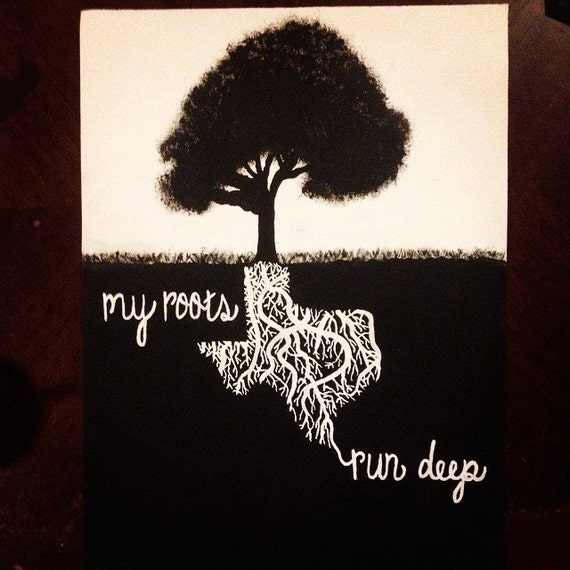 African Roots Quotes: Items Similar To My Roots Run Deep Hand Painted Canvas On Etsy