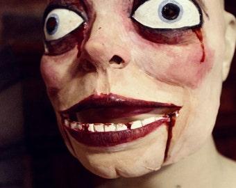 Ventriloquist Dummy Mask - Latex Halloween Costume Mask