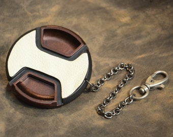 COFFEE BROWN - CameraPunk™ Lens Cap DELUXE with chain