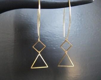 Long Geometric Earrings ( SALE item, all sales final)