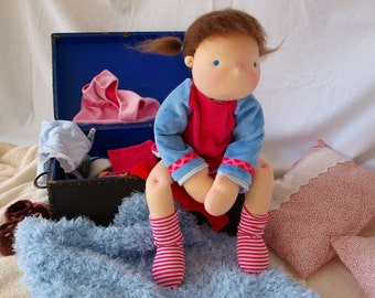 "Sold 22"" Waldorf inspired Doll Lola"