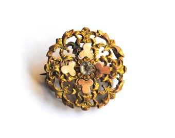 Antique French Filigree Brooch