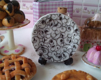 Dolls House miniature Modern Halloween Ceramic Plate