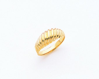 14K Gold Polished Ring, Gold Ring, Polished Jewelry, Simple Jewelry, Ring