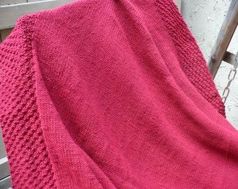 Scarlet Red Throw / Blanket