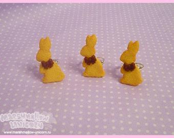 Cookie Bunny ring cute and kawaii sweet lolita style