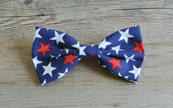 American Flag Bow, July 4th Bow, Red White Blue, Patriotic, America Bow tie, Kids Bow tie, Star Bow, Star bowtie, Patriotic Hair Bow
