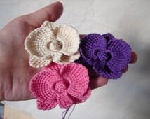 Popular items for crochet orchid on Etsy