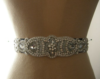 SALE / Wedding Belt, Bridal Belt, Sash Belt, Wedding Sash, Bridal Sash, Belt, Crystal Rhinestone