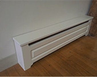 Custom Made To Order Baseboard Heater Covers. Double v raised panel.  Quality covers and a great value.