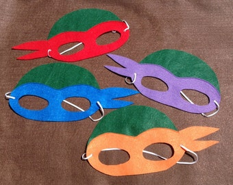 Ninja Turtle Masks set of 8 masks. ( child size)