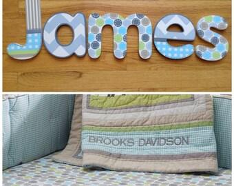 Nursery wall letters Brooks