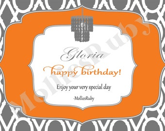 Elegant Chandelier Birthday Card
