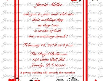 Poker Wedding Invitation