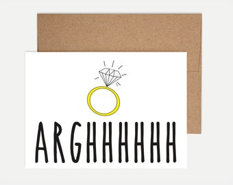 Funny Engagement Card - Arrgghhhhh