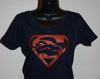 Women's Super Broncos  Glitter Shirt