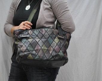 Vintage Leather bag , tote bag ....(269)