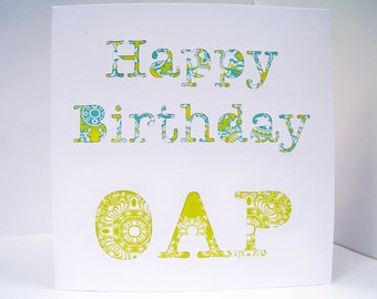 65th Birthday Card - Happy Birthday OAP - Funny Card for a Special Birthday - Handmade Greeting Card - Paper Cut  Card - Etsy UK