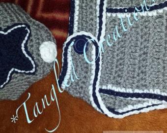 Crochet Beanie & Diaper Cover