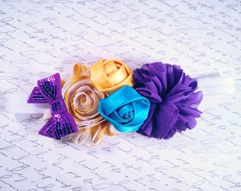 Purple Burst OTT Floral Headband