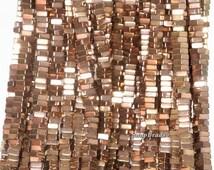 4x2mm Bronze Hematite Gemstone Heishi Square Slice 4x2mm Loose Beads 15.5 inch Full Strand (90189100-199)