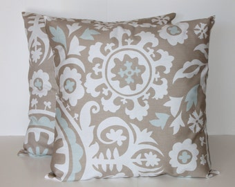 Grey Pillow Covers for Couch (2) - Grey Sofa Pillows - Decorative Throw Pillows (2) for Couch - 0022
