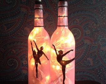 Let's Dance Wine Bottle Lamp