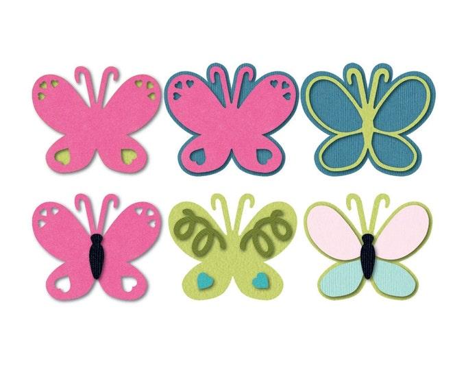 New! Sizzix Triplits Die Set 13PK - Butterfly by Stephanie Barnard (659596)