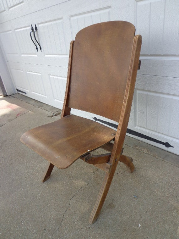 Like this item? - Antique Wood Folding Chair Vintage Country French Theater