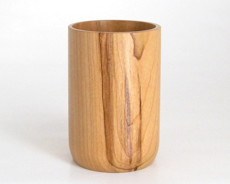 Pencil Cup Handcrafted in Cherry by DebsWoodshop on Etsy