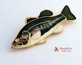 Vintage Figural Fish Brooch Enamel