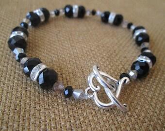 Black Swarovski Crystal Bracelet by The Darling Duck