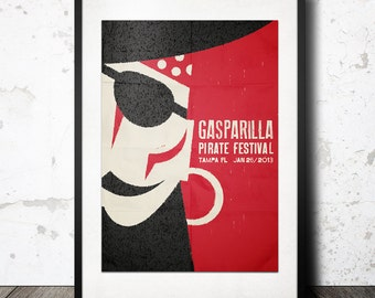 2013 Gasparilla Pirate Poster