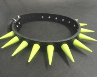 Yellow Metal Spikes Choker