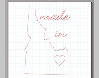 Made in Idaho Cameo Silhouette File