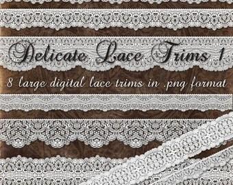 Delicate Lace Trims 1