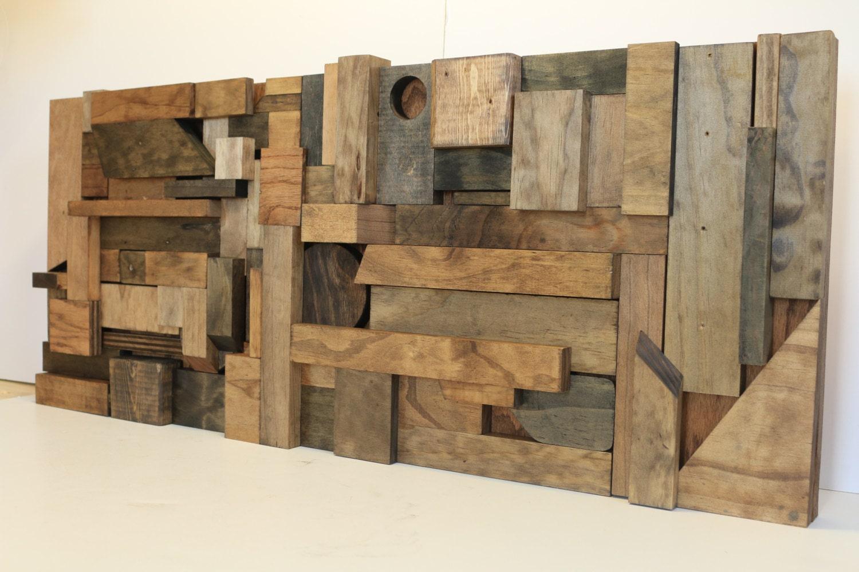 Wood Wall Art Reclaimed Wood Art Scrap Wood Art By Woodwarmth