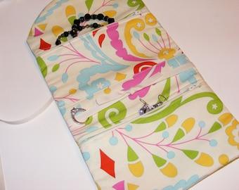 Travel organizer, travel jewelry roll, bridesmaid gift, teacher gift, bridal shower, organizer, jewelry case