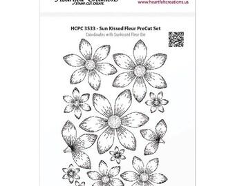 Heartfelt Creations - Sun Kissed Fleur -  Cling Rubber Stamp Set