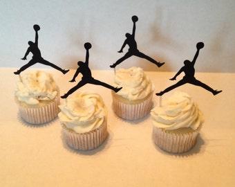 Designer Jordan Cupcake Toppers - 6