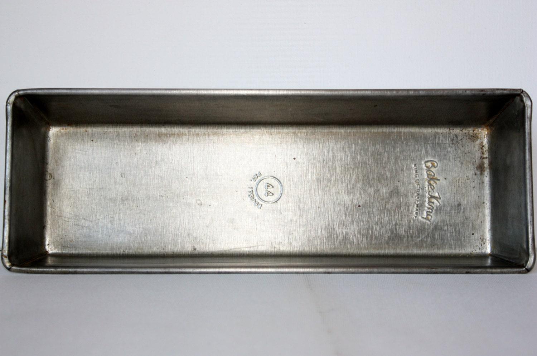 Vintage Metal Bake King Long Loaf Pan Housewares Baking