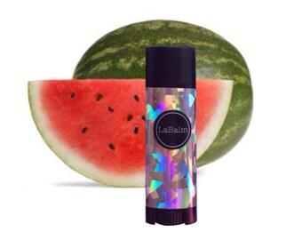 Lip Balm Watermelon holographic LaBalm, fruity lip balm