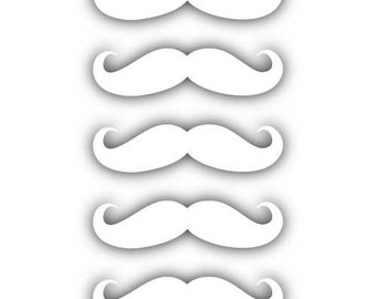 "Mustache 2""  (pack of 5) 2"" Vinyl Decal Widow Sticker for Car, Truck, Motorcycle, Laptop, Ipad, Window, Wall, ETC"