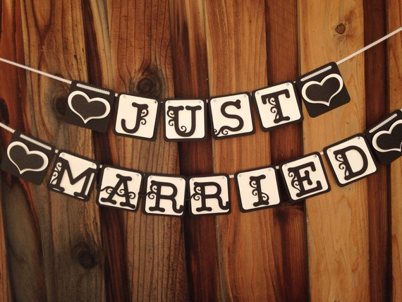 Just married Banner, Wedding banner