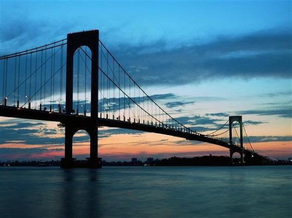 Items Similar To Whitestone Bridge Sunset Photo Nyc New