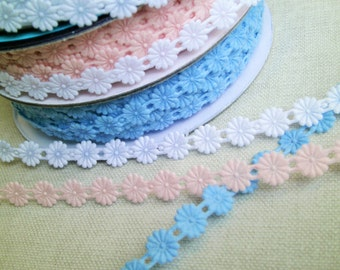 1 m Iron on Trim Flower Garland 10 mm w.